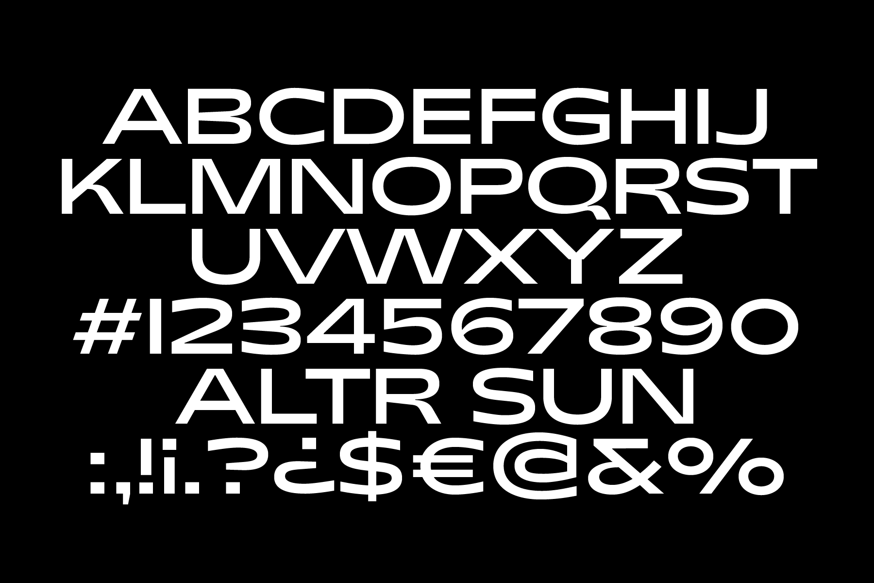ALTR Corporate Typeface