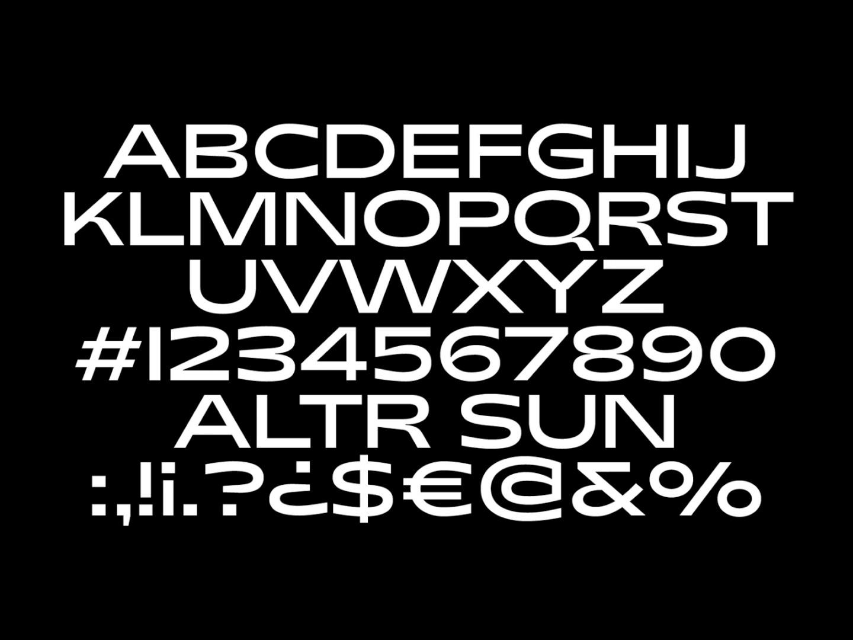 ALTR — Corporate Typeface